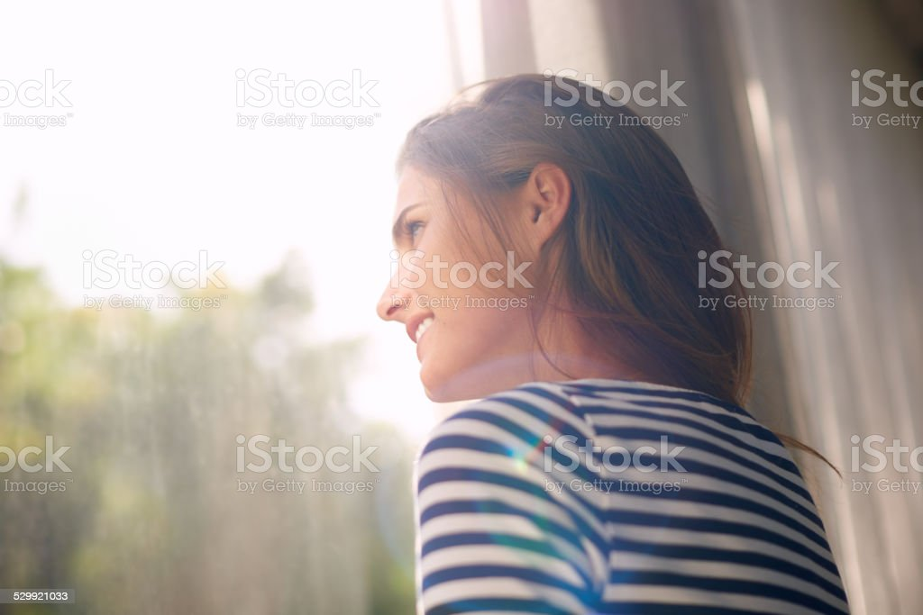 It's going to be a beautiful day stock photo