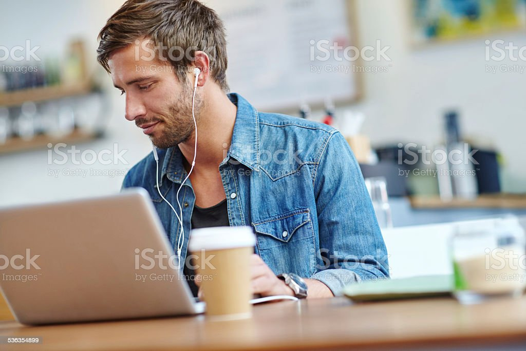 It's going to be a productive day stock photo