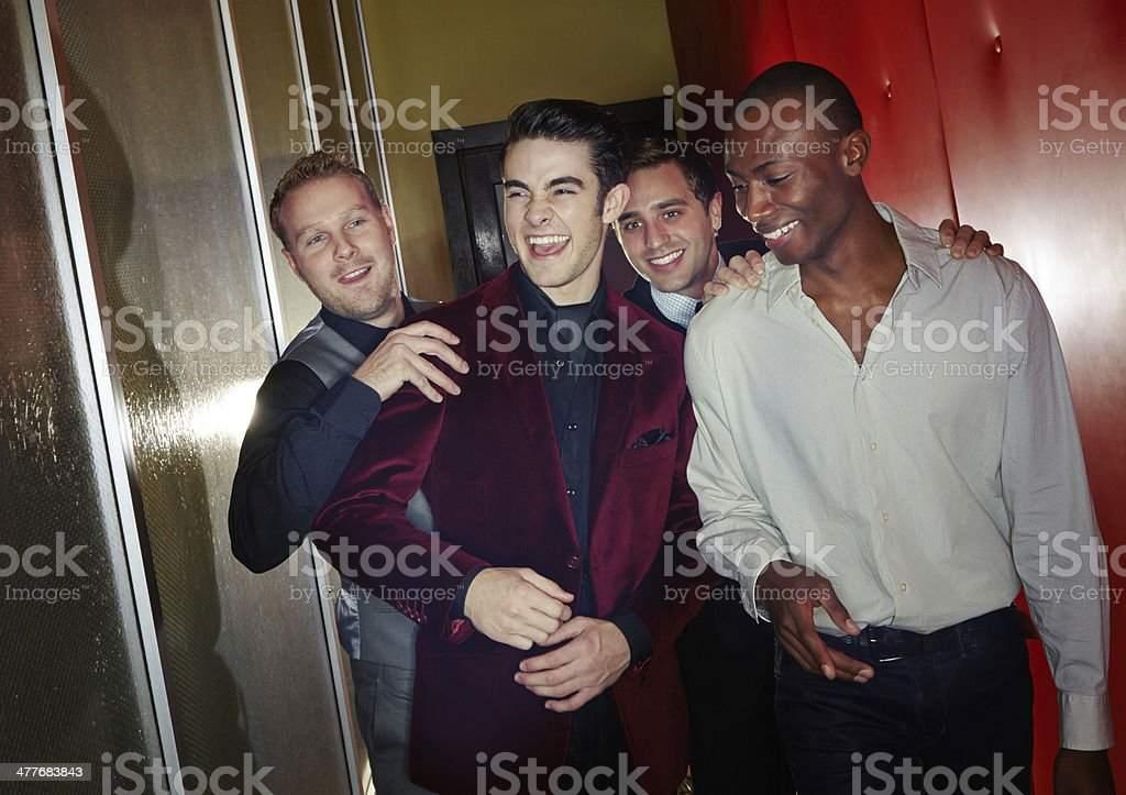 It's gonna be a great night boys! stock photo