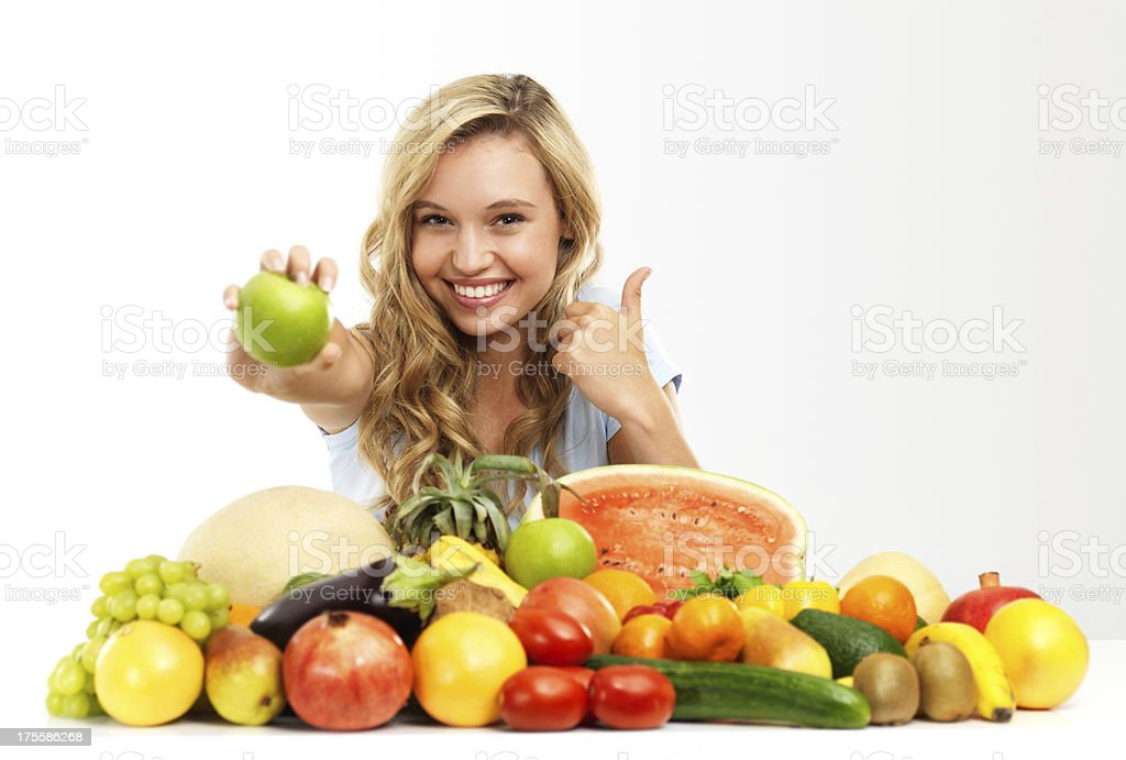 It's good for you! - Copyspace royalty-free stock photo