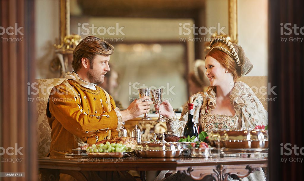 It's good to be royal! stock photo