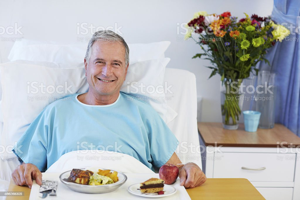 It's good to have my appetite back royalty-free stock photo