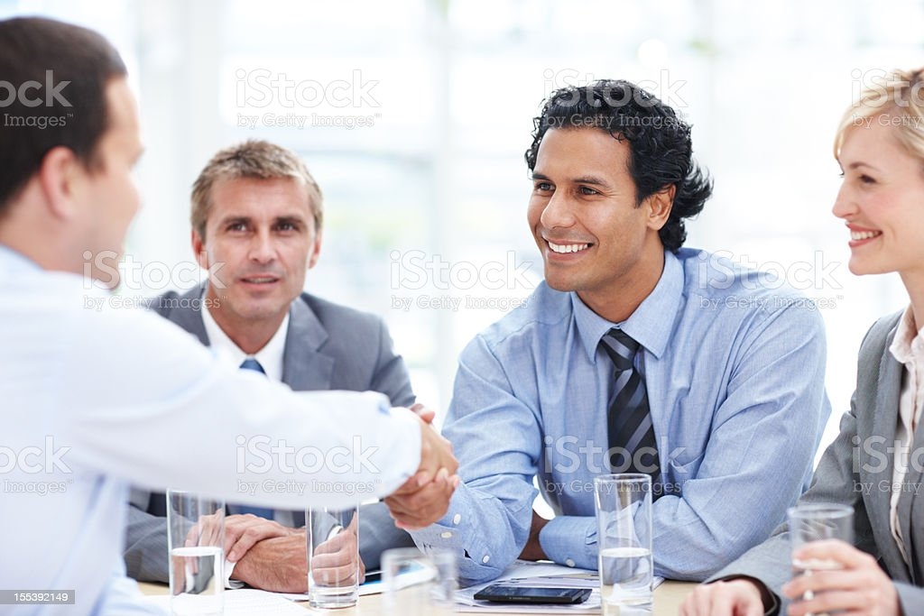 It's good to have you on our team royalty-free stock photo