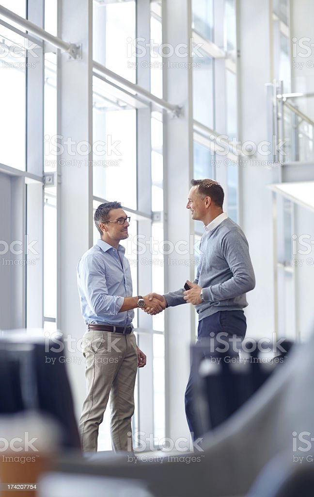 It's good to meet you! royalty-free stock photo