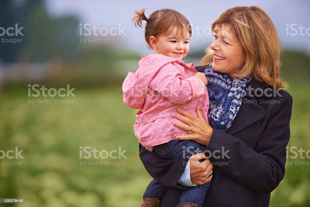 It's granny time stock photo