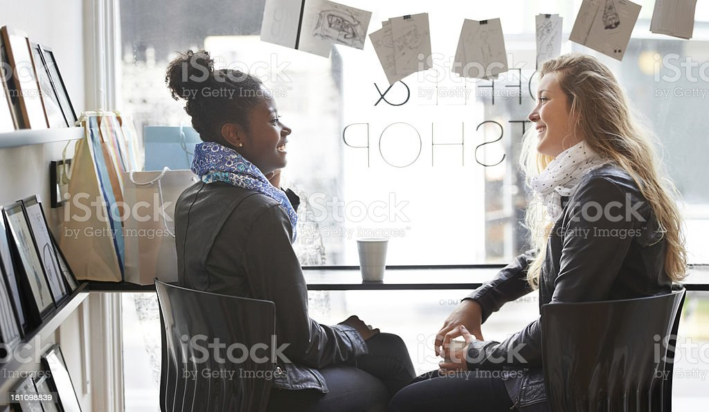 It's great catching up like this! royalty-free stock photo
