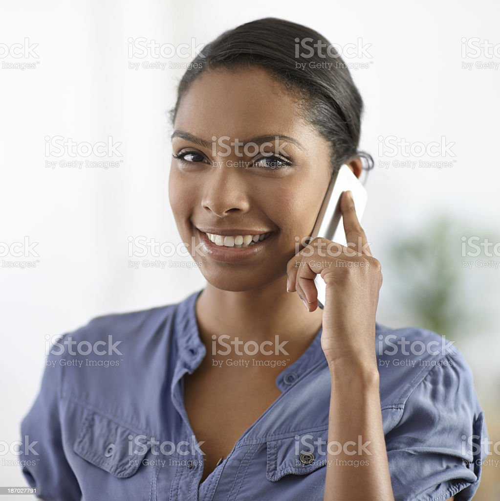 It's great to hear from you! stock photo