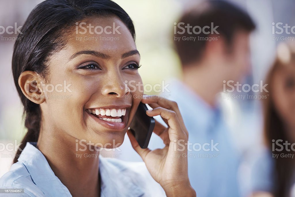 It's great to hear your voice! royalty-free stock photo