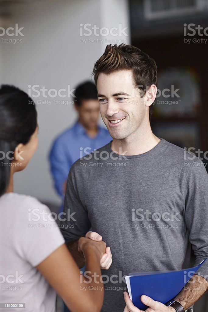 It's great to meet you! stock photo