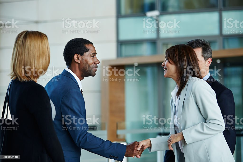 It's great to meet you stock photo