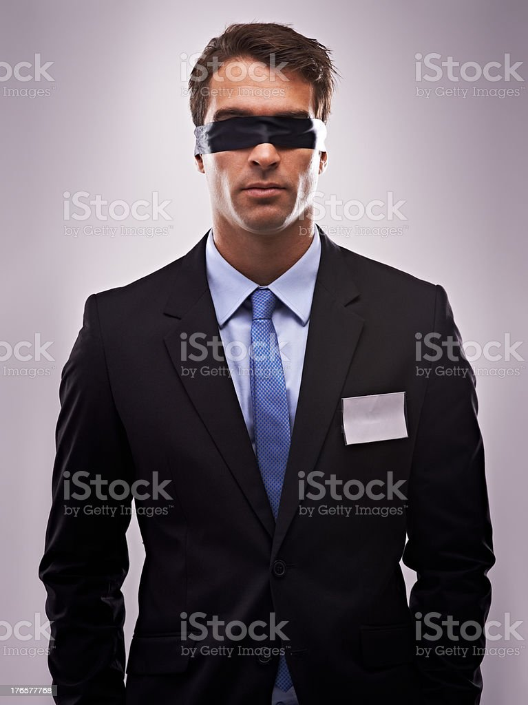 It's hard to do business when you're in the dark stock photo