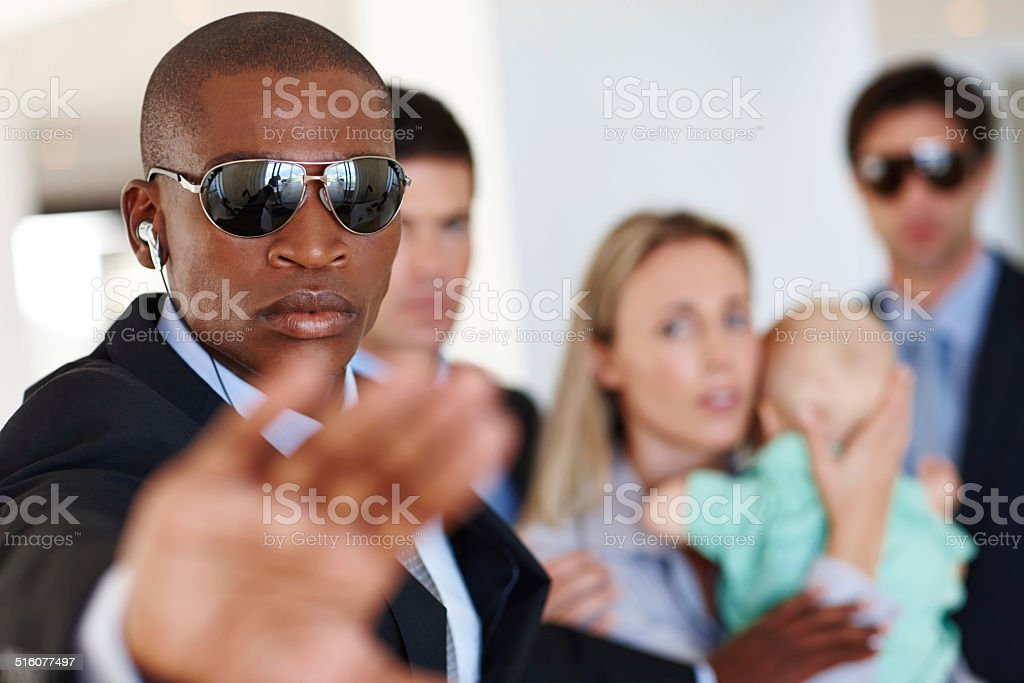 It's his job to protect and serve stock photo