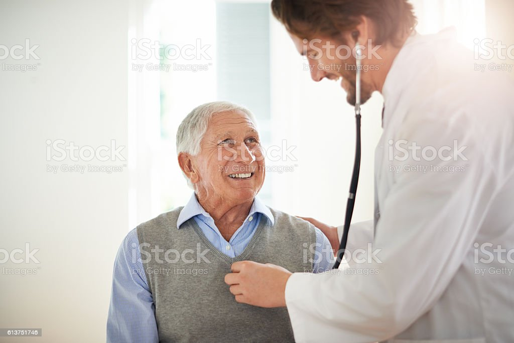 It's important to screen regular check-ups with your doctor stock photo
