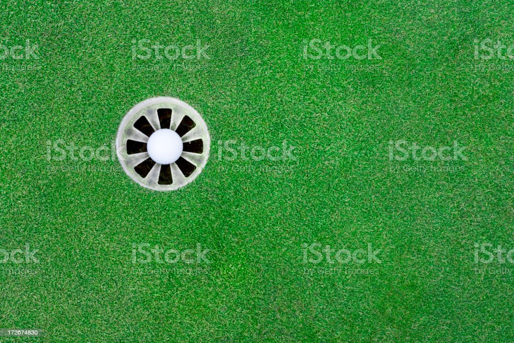 It's in the hole. royalty-free stock photo