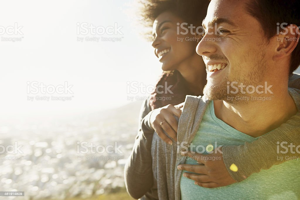 It's just us in the entire world... stock photo