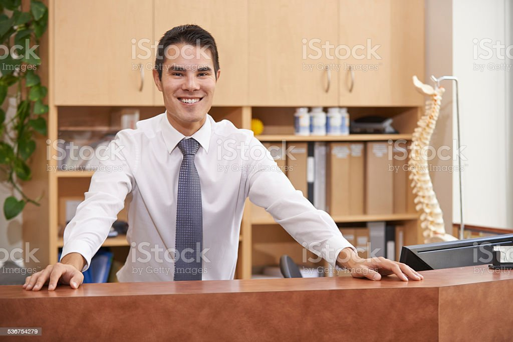 It's like a day spa for your spine stock photo