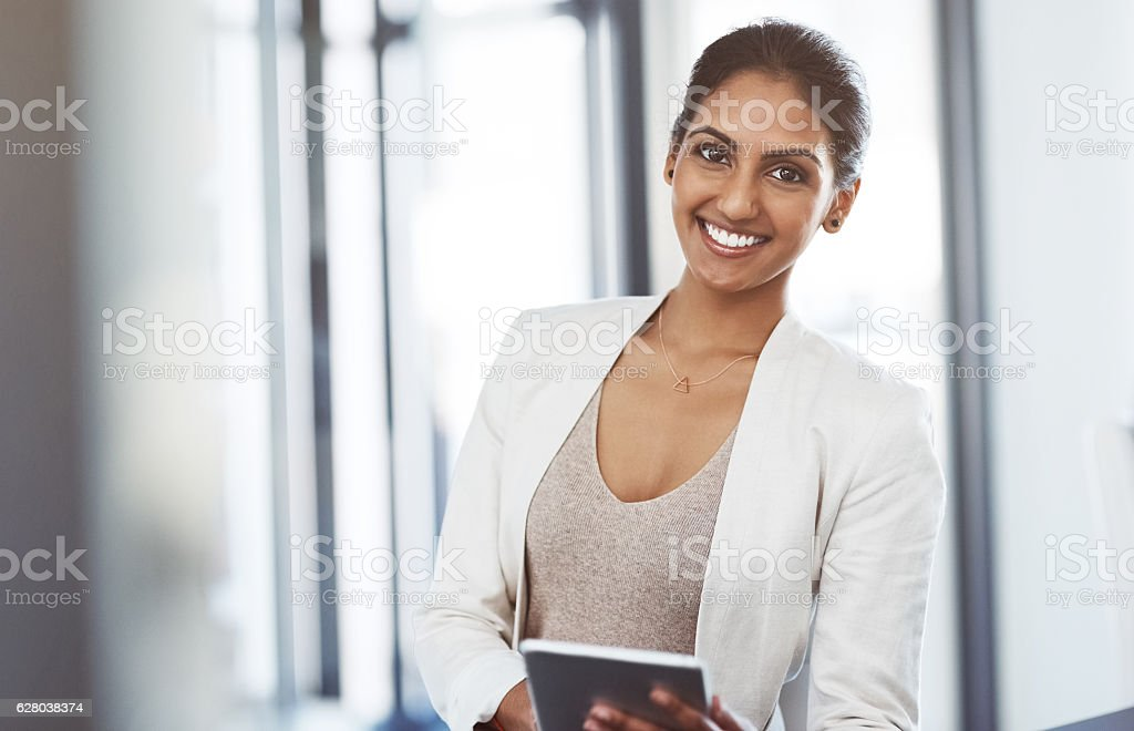 It's loaded with apps to suit my business interests stock photo