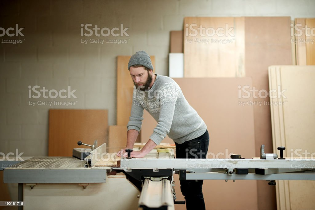 It's more than a hobby for him stock photo