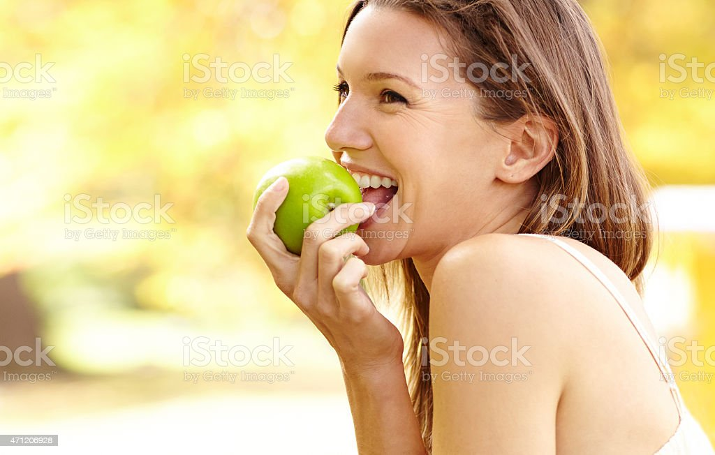 It's more than just an apple... stock photo