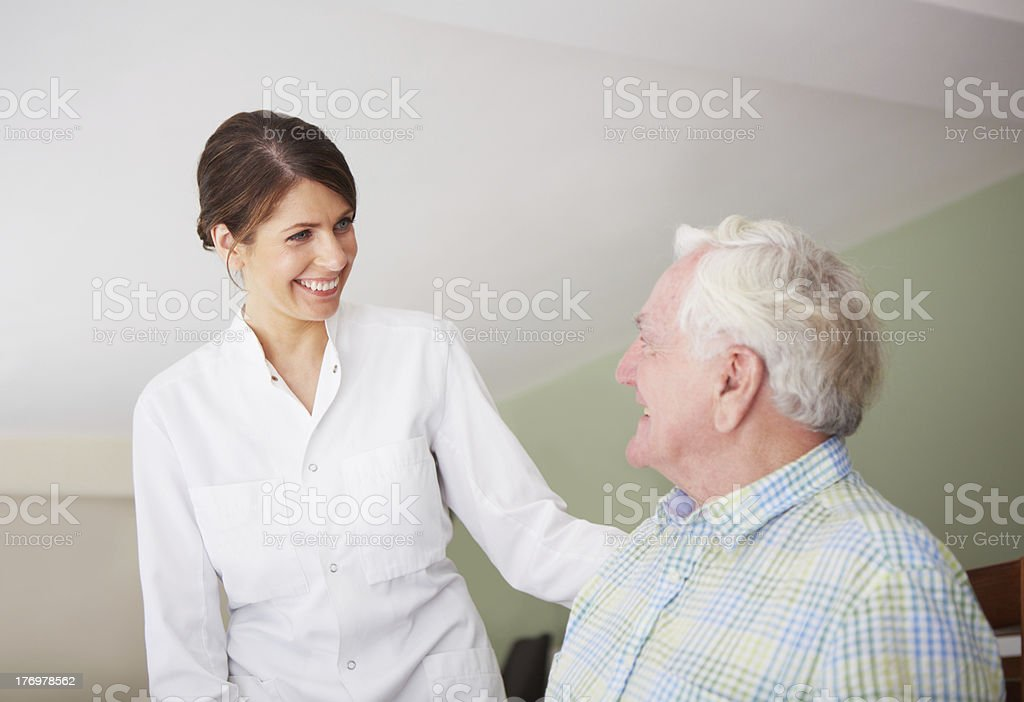 It's my job to care royalty-free stock photo