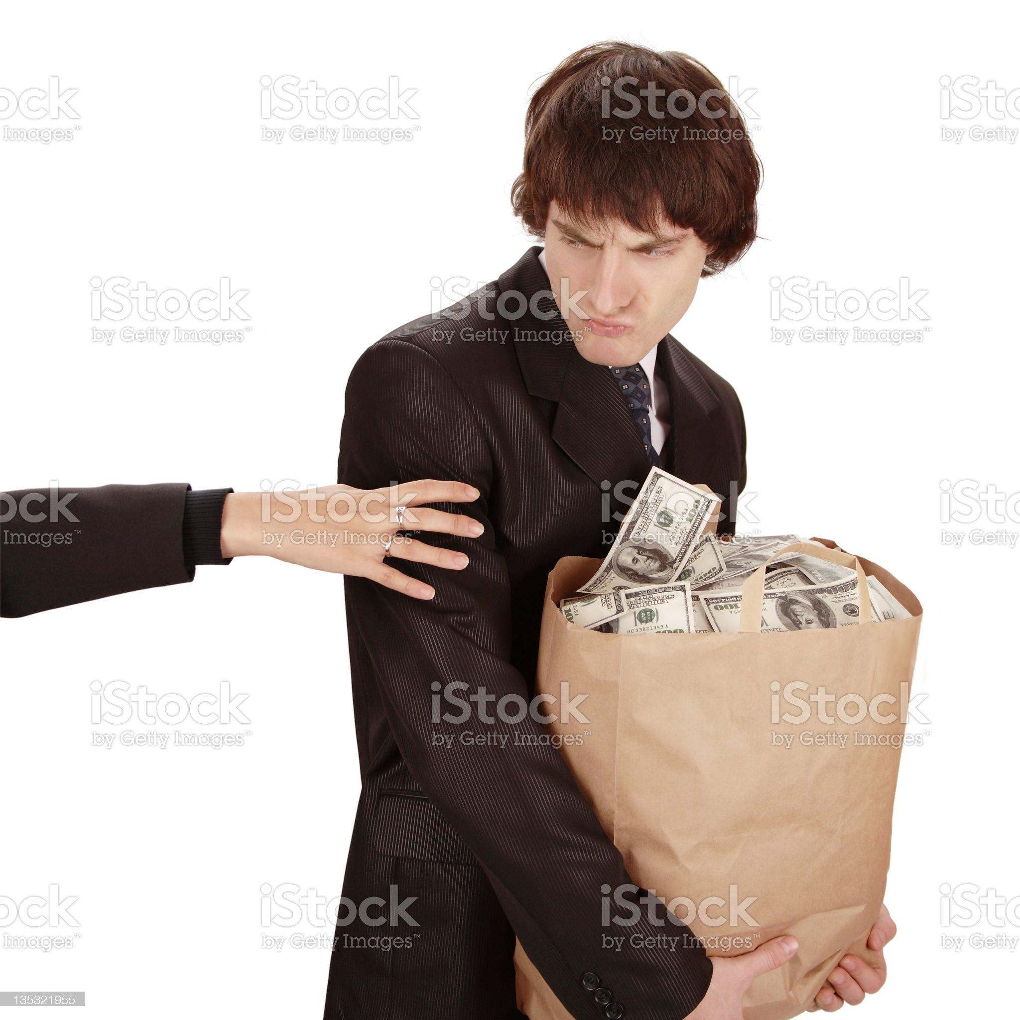 It's my money! royalty-free stock photo
