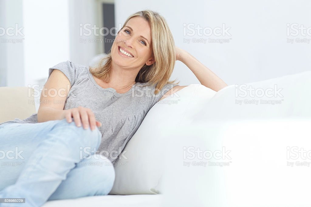 It's my time to unwind stock photo