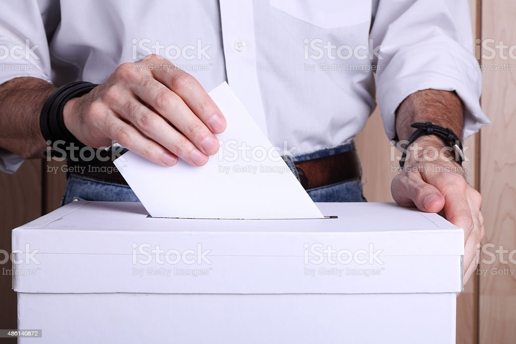 It's my vote! stock photo
