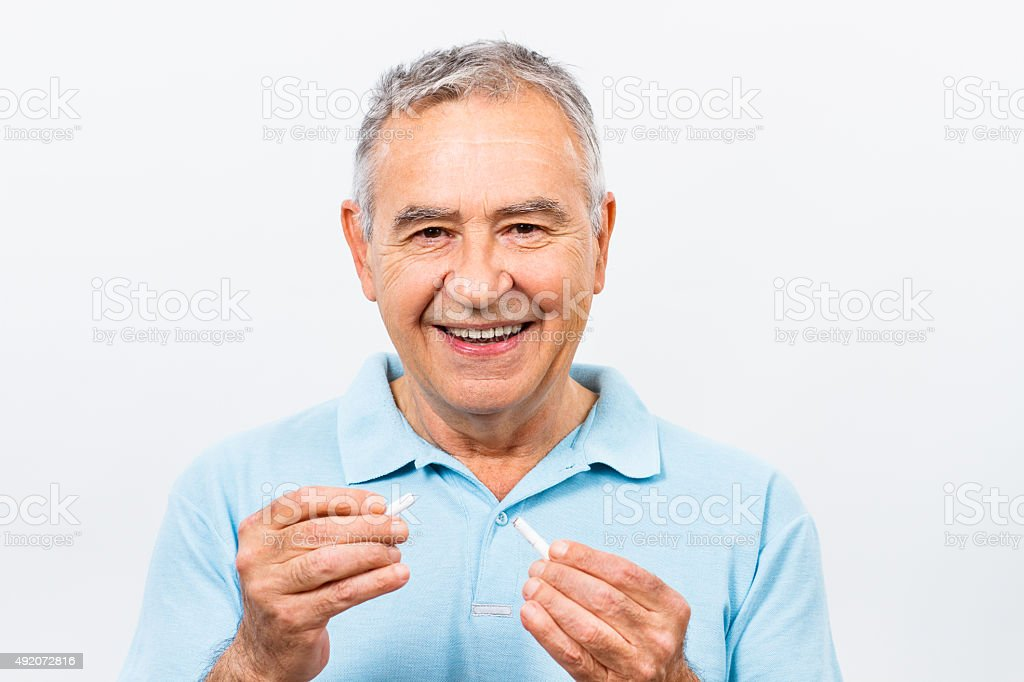 It's never too late to stop smoking stock photo