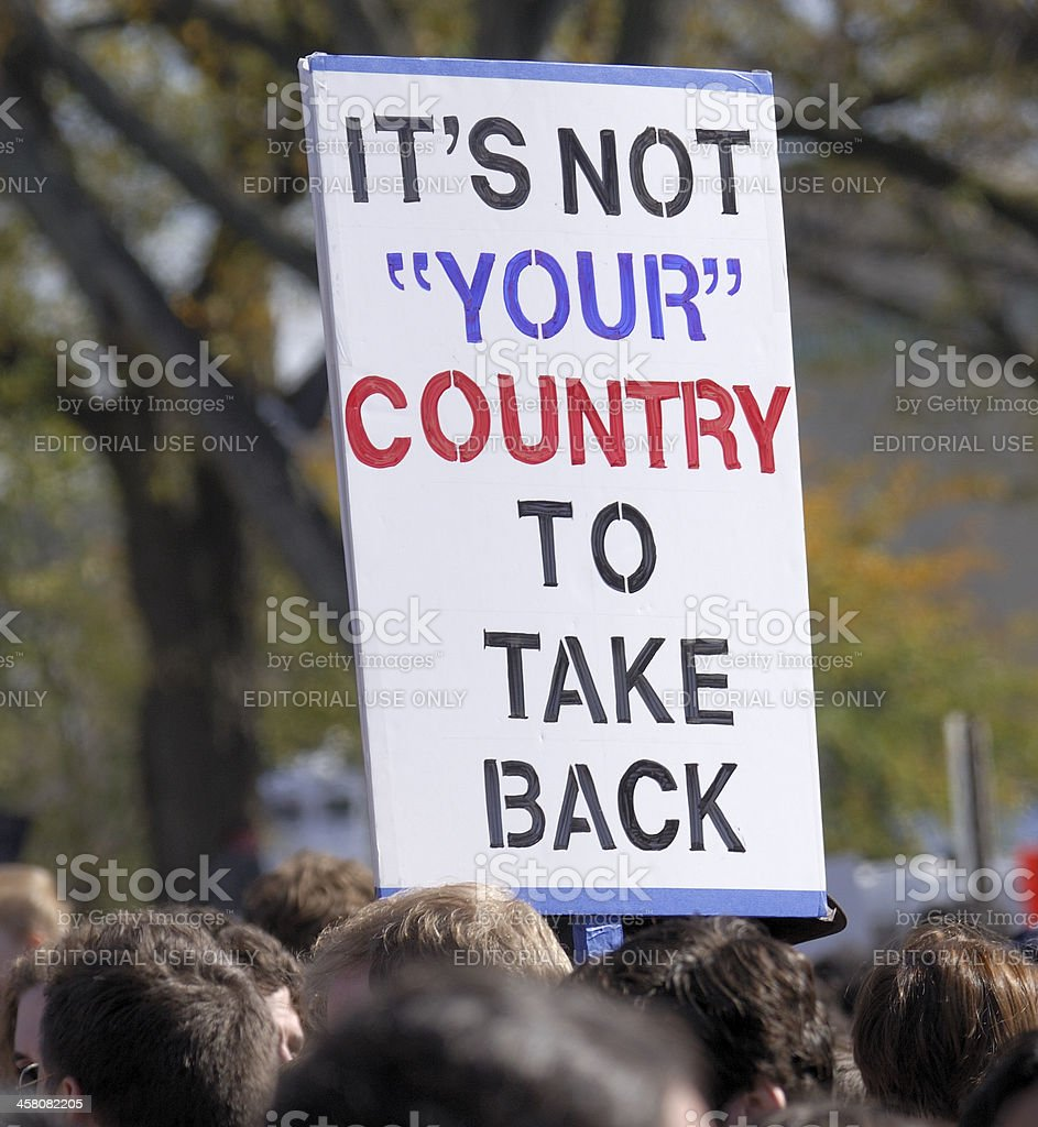 It's Not Your Country stock photo