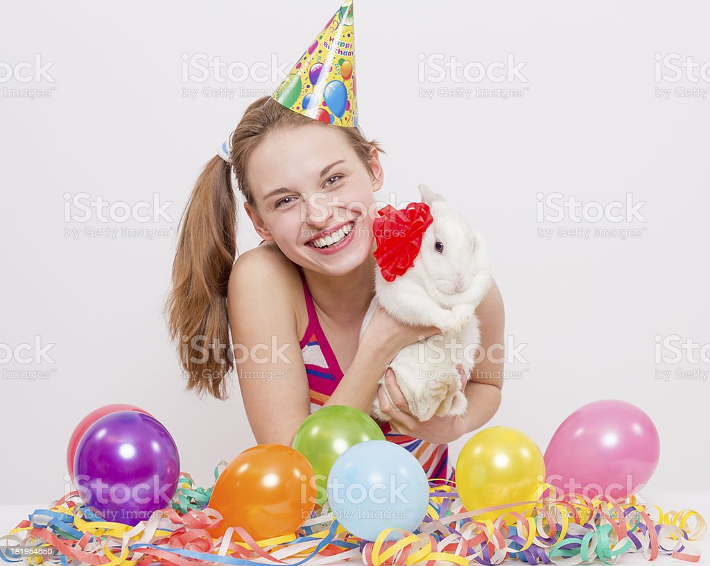 It's party time at last! stock photo