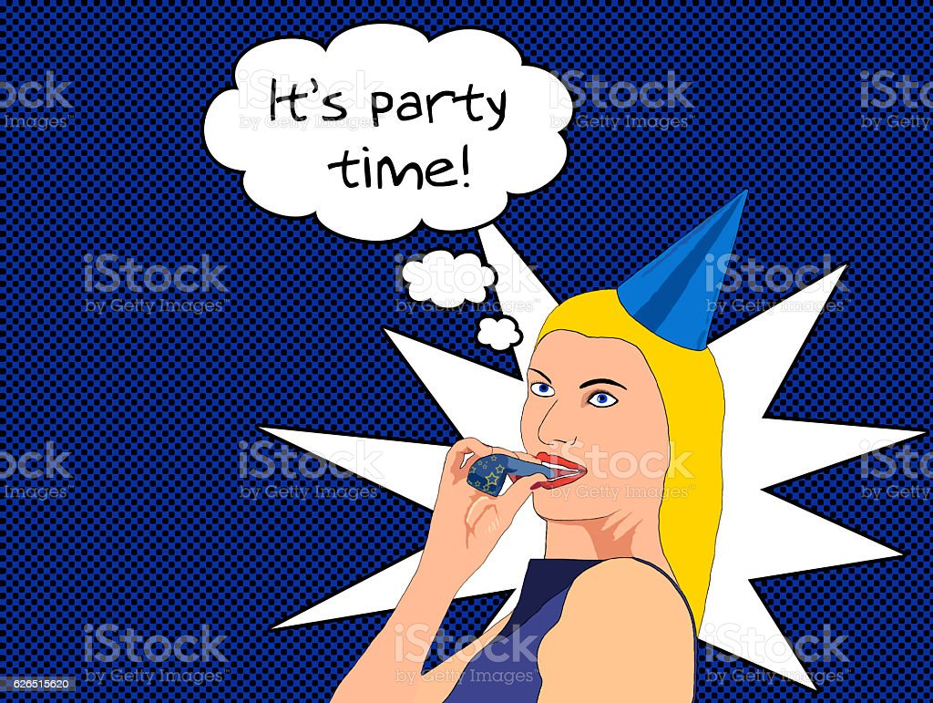 It's party time stock photo
