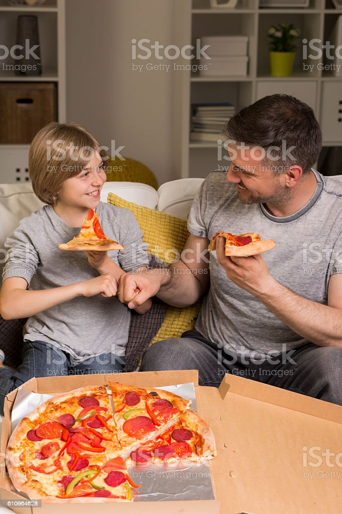It's pizza time! stock photo