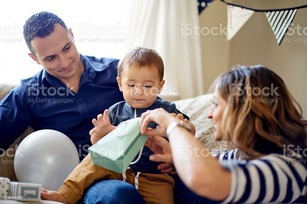 It's prezzie time stock photo