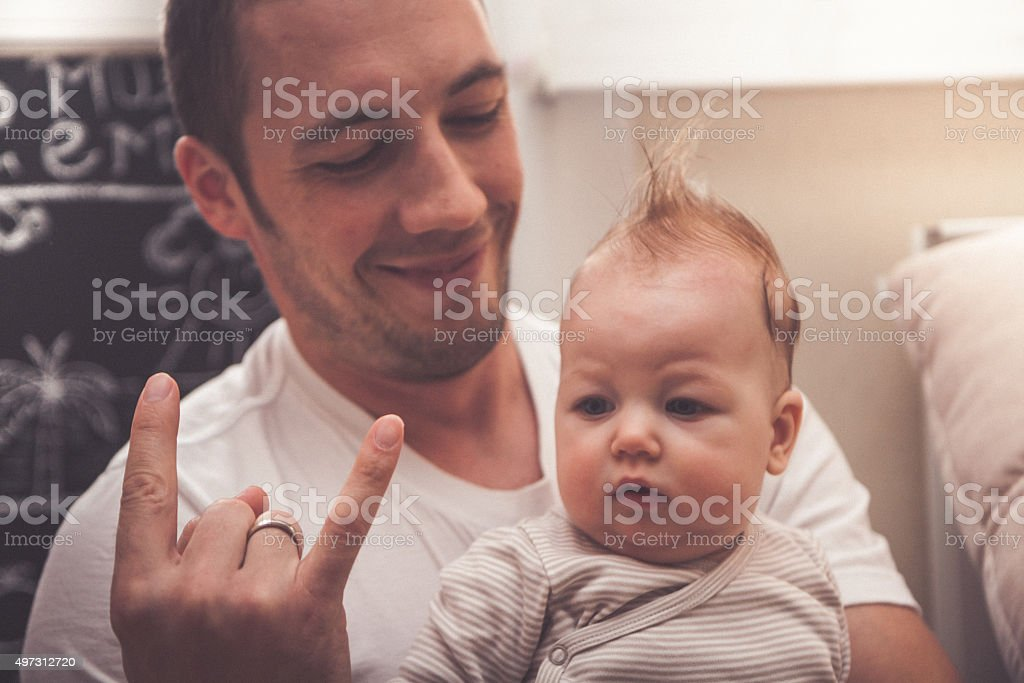 It's punk rock baby stock photo