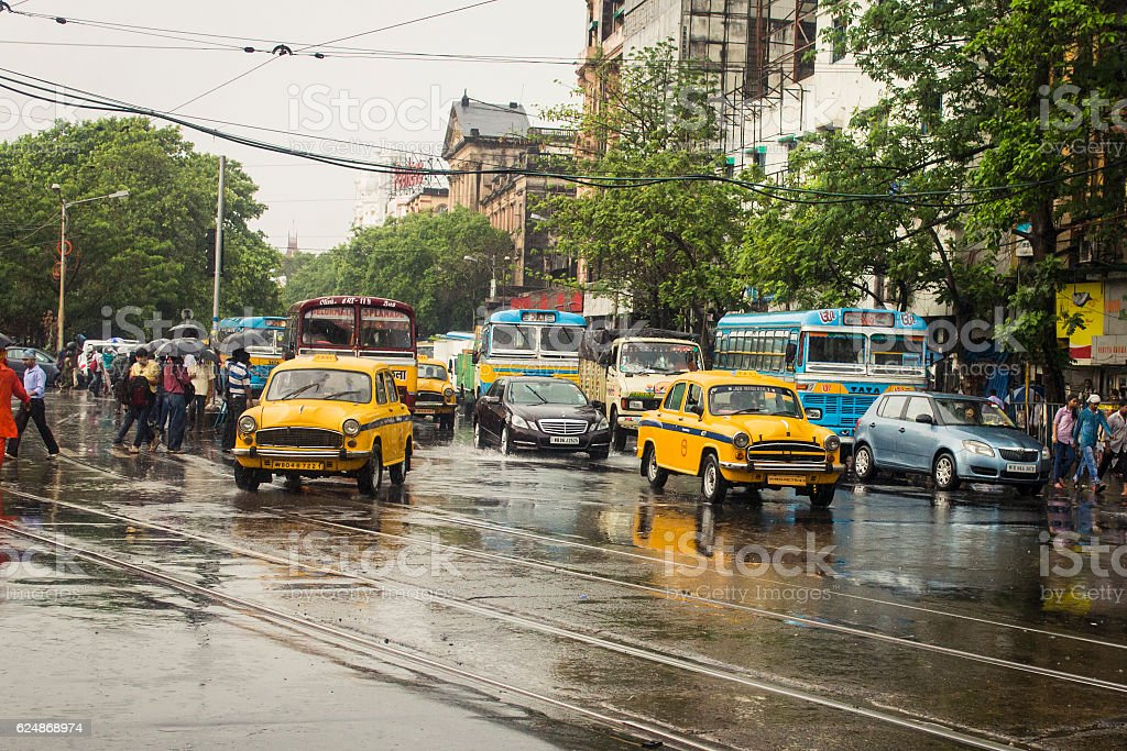 It's raining in Kolkata! stock photo