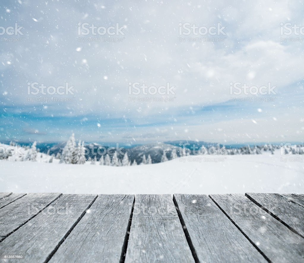 It's snowing stock photo
