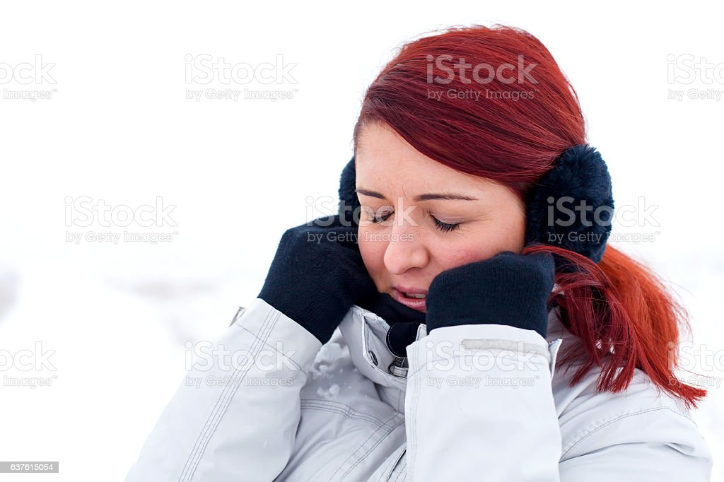 It's so cold outside stock photo