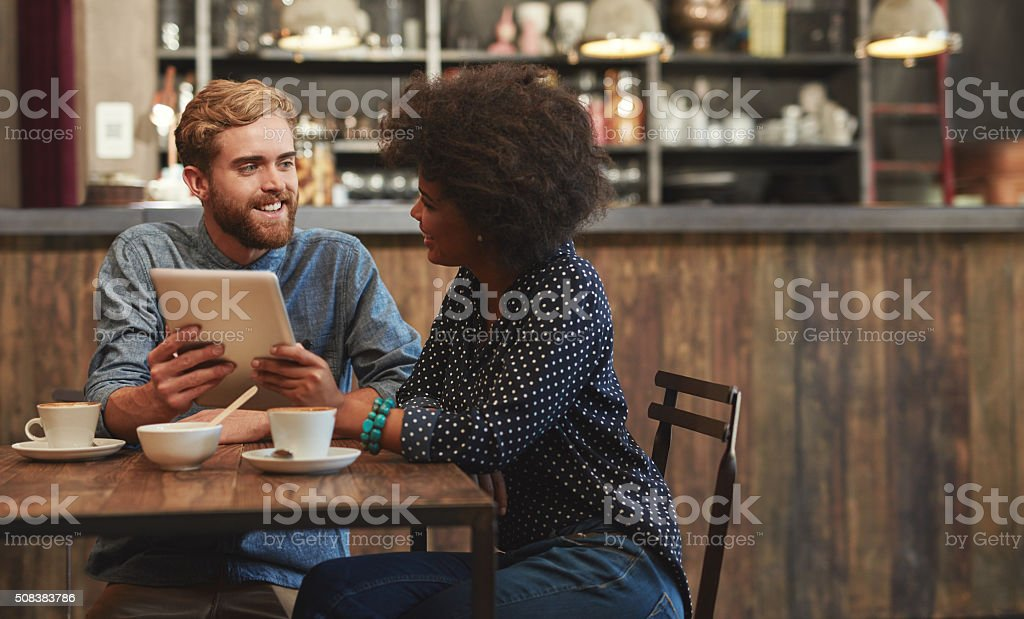It's so good catching up with you stock photo