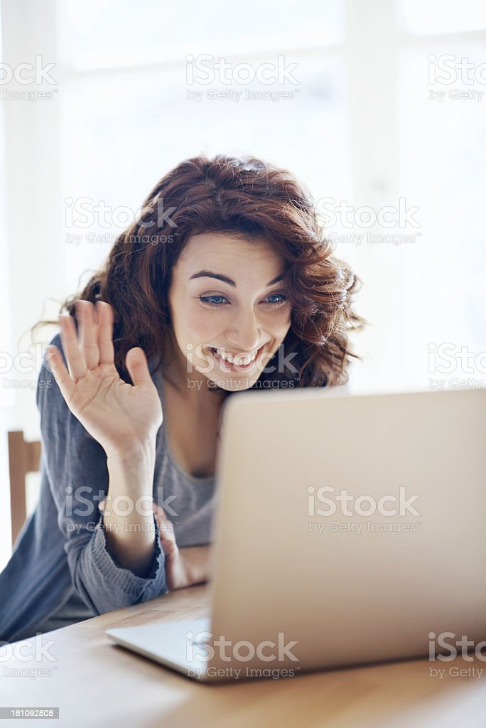 It's so good to see you again! stock photo