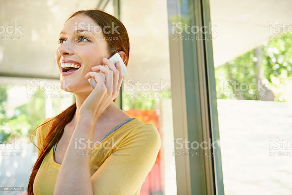 It's so great to hear from you stock photo