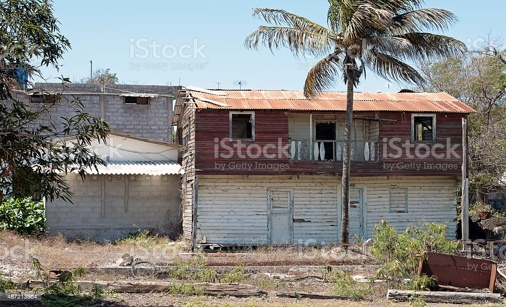 It's still home. San Cristobal, Galapagos stock photo