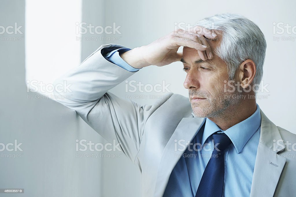 It's stressful at the top stock photo