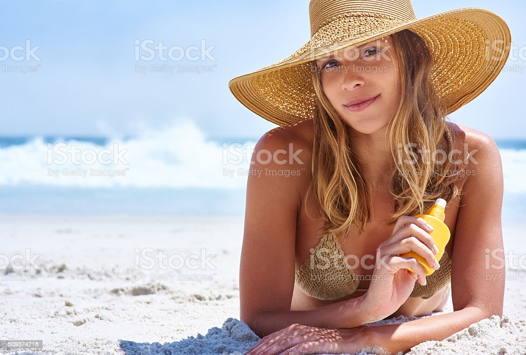 It's summer, be kind to your skin stock photo