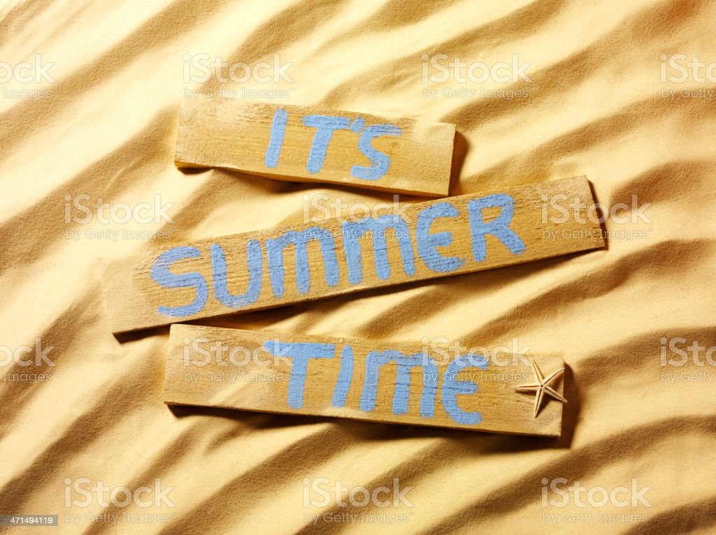 It's Summer Time on a Sandy Beach royalty-free stock photo