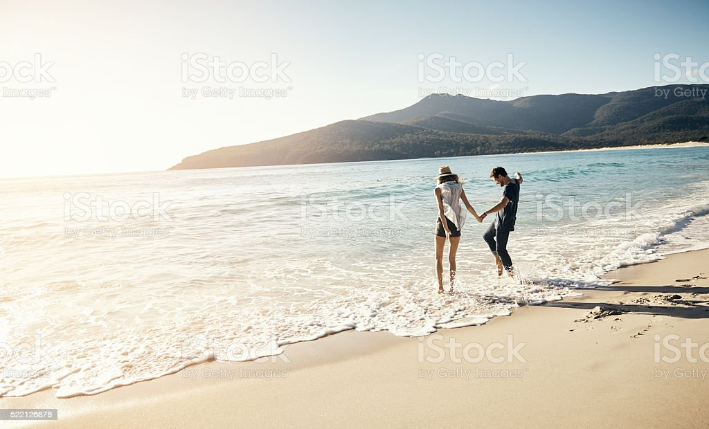 It's summer, time to get wet! stock photo