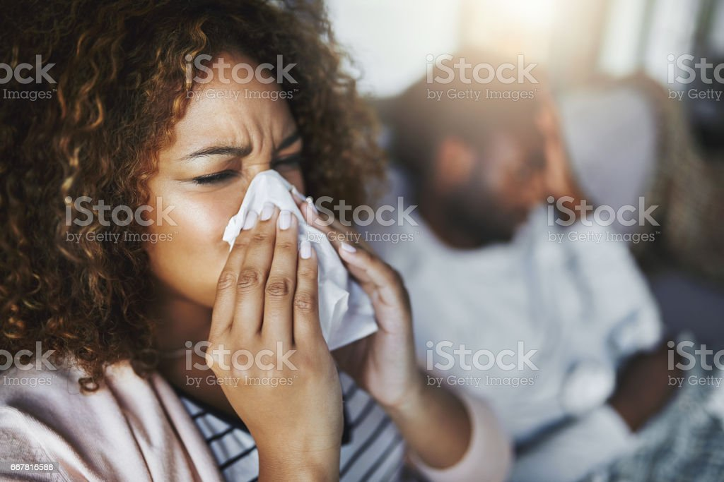 It's the height of cold and flu season stock photo
