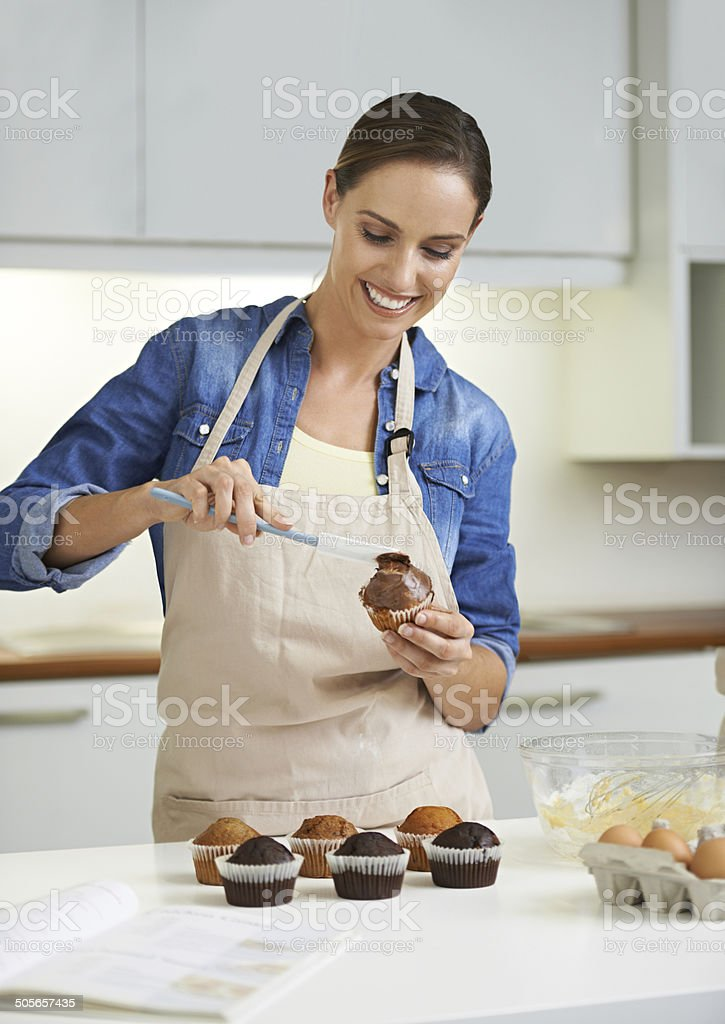 it's the icing on the cake! stock photo