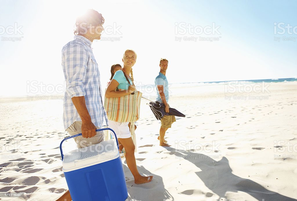 It's the perfect day for a picnic! stock photo