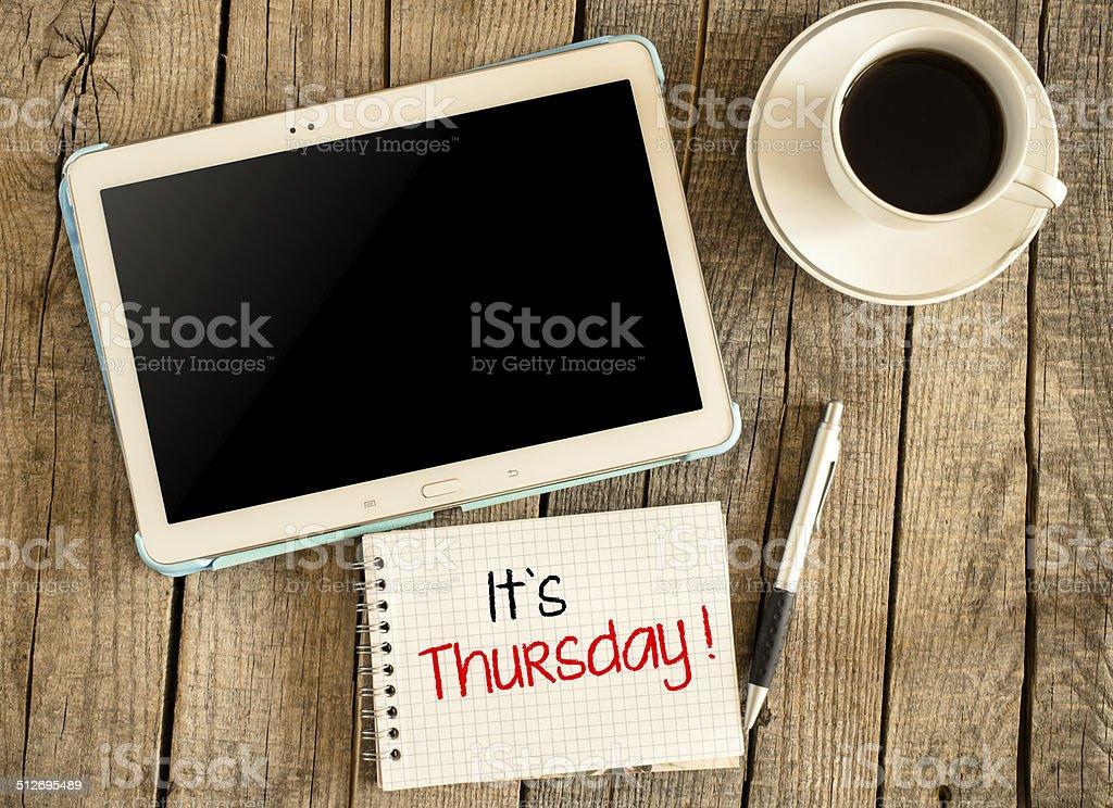 It's Thursday stock photo
