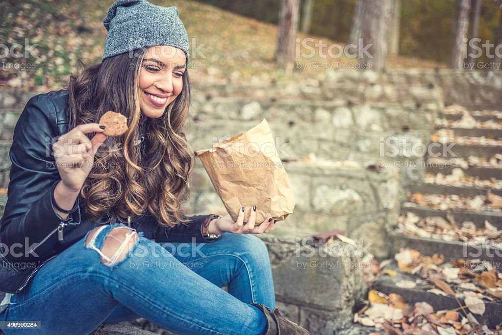 It's time for a snack stock photo